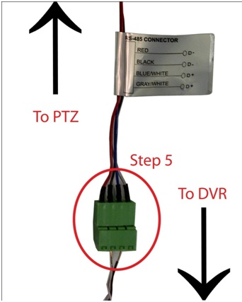 ivigil technical support faq ptz camera wiring and setup setting up rs 485 connections on the dvr